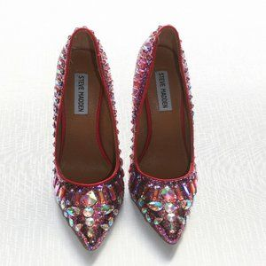 Steve Madden Galaxxie High Heel Shoes SPARKLE 7M